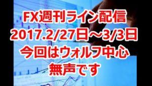 FX週刊ライン配信 2017.2/27日~3/3日 ウォルフ中心構成