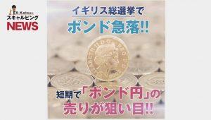 イギリス総選挙でポンドドル大きく動く!さらに今後はドル円にもチャンスあり!/最新情報をお届け!FX-Katsuのスキャルピングニュース_2017年6月14日(水)版