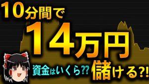 【バイナリーオプション】 10分間で、+14万円儲ける。資金はいくら?? 【初心者、シグナルツール】